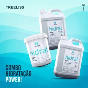 Comprar o produto de KIT LAVATÓRIO HIDRAT ARGAN da TREE LISS 3 PRODUTOS SHAMPOO 5 LTS, CONDICIONADOR 5 LTS, MASCARA 3,5 KG em Tratamento em Araçatuba, SP por Solutudo