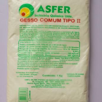 Comprar o produto de Gesso Comum tipo II - Asfer em Saúde pela empresa Total Segurança em Mineiros, GO por Solutudo
