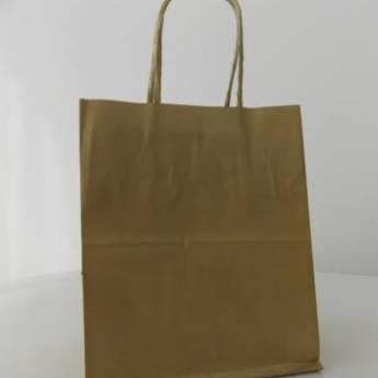 Comprar o produto de Sacola de papel kraft c/10 21,5x15x8cm em A Classificar pela empresa TRESKOS em Botucatu, SP por Solutudo