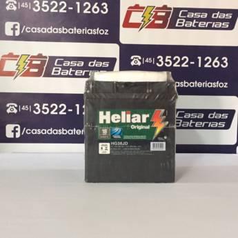 Comprar o produto de Bateria Heliar HG38JD em Baterias Automotivas em Foz do Iguaçu, PR por Solutudo