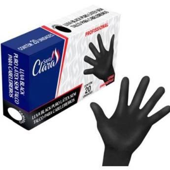 Comprar o produto de LUVA PROFISSIONAIS BLACK EM LÁTEX SANTA CLARA CAIXA C/20 UND em Tratamento em Araçatuba, SP por Solutudo