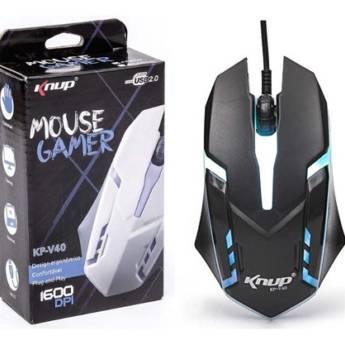 Comprar o produto de MOUSE GAMER COM FIO USB KNUP KP-V40 em Novos pela empresa Multi Consertos - Celulares,  Informática e Vídeo Games em Botucatu, SP por Solutudo