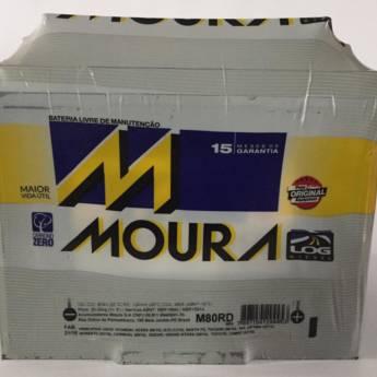 Comprar o produto de Bateria Moura M80RD - 80AH em Baterias pela empresa Casa das Baterias em Foz do Iguaçu, PR por Solutudo