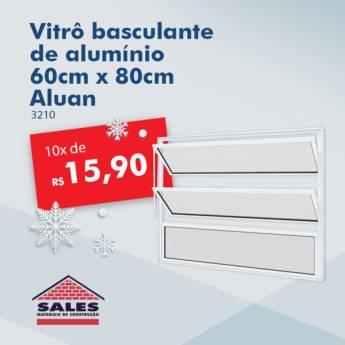 Comprar o produto de Vitro Alum (3210) Basculante 60x80 - Aluan em Construção em Botucatu, SP por Solutudo