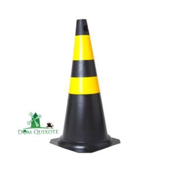 Comprar o produto de Cone Flexível 75cm - Preto e Amarelo em Sinalização em Jundiaí, SP por Solutudo