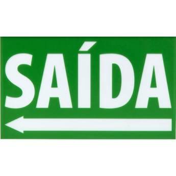 Comprar produto Placa Sinalização 1390045 Ps Br-Vd Saida Seta Esquerda Engesul em Placas pela empresa Nksec Segurança e Tecnologia em Jundiaí, SP