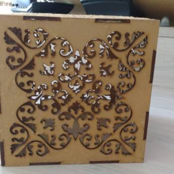 Comprar o produto de Caixa decorativa em MDF em Artesanato em Aracaju, SE por Solutudo
