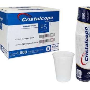 Comprar o produto de Caixa Copo Descartável Cristalcopo Transparente 500ml C/1000 em Descartáveis para Festa em Jundiaí, SP por Solutudo