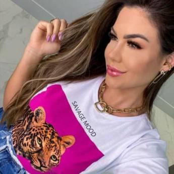 Comprar o produto de T-Shirt savage mood EGO AR em Roupas e Acessórios pela empresa Loja Ego - Moda Feminina Multimarcas em Botucatu, SP por Solutudo
