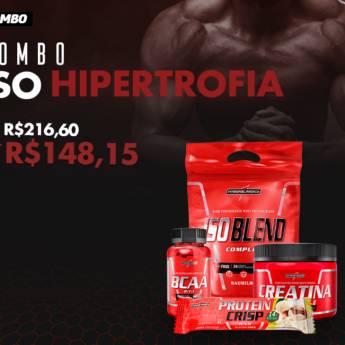 Comprar o produto de Combo Iso Hipertrofia em Suplementos em Foz do Iguaçu, PR por Solutudo