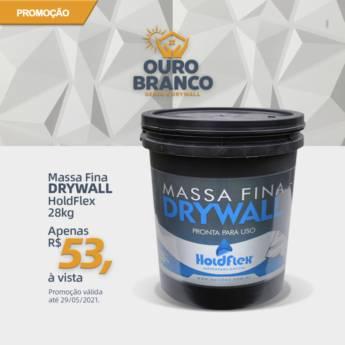 Comprar o produto de PROMOÇÃO MASSA DE DRYWALL HOLDFLEX 28KG em Gesso em Foz do Iguaçu, PR por Solutudo