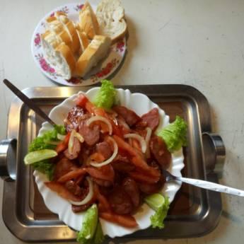 Comprar o produto de Porção de Linguiça Calabresa  em Porções em Atibaia, SP por Solutudo