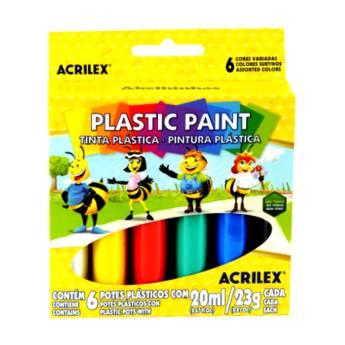 Comprar o produto de Tinta Plástica Acrilex em Materiais Escolares pela empresa Eloy Festas em Jundiaí, SP por Solutudo