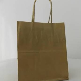 Comprar o produto de Sacola de papel kraft c/10 26x19,5x9,5cm em A Classificar pela empresa TRESKOS em Botucatu, SP por Solutudo
