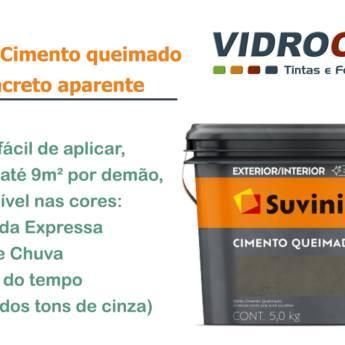 Comprar o produto de Suvinil Cimento queimado Loja de tinta em Botucatu em Linha Imobiliária pela empresa Vidrocor Tintas - Loja 1 em Botucatu, SP por Solutudo