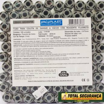 Comprar o produto de Tubo para coleta de sangue a vácuo com reagente FLUORETO - CRAL em Saúde em Mineiros, GO por Solutudo