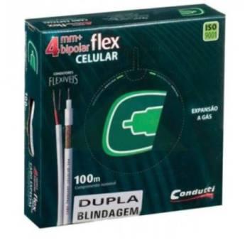Comprar o produto de Cabo Condutti 4mm  2x26AWG Master Cobre NU 100m Coaxial em Eletrônicos, Áudio e Vídeo em Jundiaí, SP por Solutudo