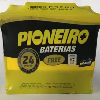 Comprar o produto de Bateria Pioneiro 52AH em Baterias pela empresa Casa das Baterias em Foz do Iguaçu, PR por Solutudo