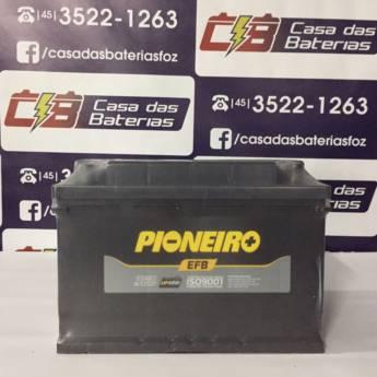 Comprar o produto de  Bateria Pioneiro 72AH  em Baterias pela empresa Casa das Baterias em Foz do Iguaçu, PR por Solutudo