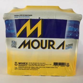 Comprar o produto de Bateria Moura M50EX - 50AH em Baterias pela empresa Casa das Baterias em Foz do Iguaçu, PR por Solutudo