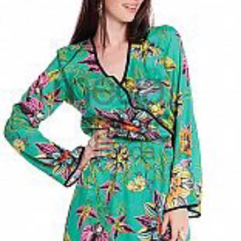Comprar o produto de Vestido verde transpassado Tricomix em Roupas e Acessórios pela empresa Loja Ego - Moda Feminina Multimarcas em Botucatu, SP por Solutudo