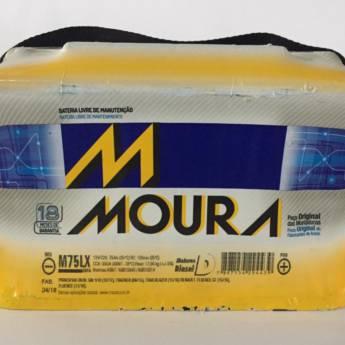 Comprar o produto de Bateria Moura M75LX - 75AH  em Baterias pela empresa Casa das Baterias em Foz do Iguaçu, PR por Solutudo