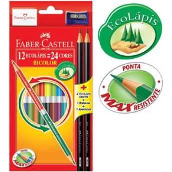 Comprar o produto de Lápis 24 cores Faber  em Canetas, Lápis e Afins pela empresa Eloy Festas em Jundiaí, SP por Solutudo