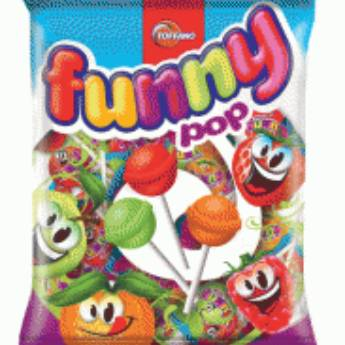 Comprar o produto de Pirulito Funny Pop Toffano em Alimentos e Bebidas pela empresa Eloy Festas em Jundiaí, SP por Solutudo