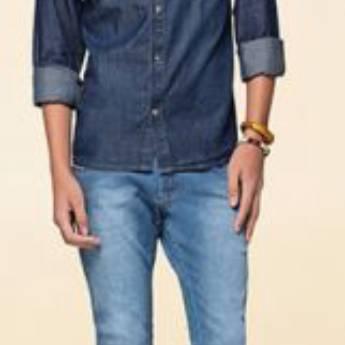 Comprar o produto de Camisetas Manga Longa Jeans em Moda Masculina pela empresa Lojas Conceito Confecções e Calçados - Vestindo e Calçando Toda a Família em Atibaia, SP por Solutudo