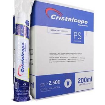 Comprar o produto de Caixa Copo Descartável Cristalcopo Transparente 200ml C/2500 em Descartáveis para Festa em Jundiaí, SP por Solutudo