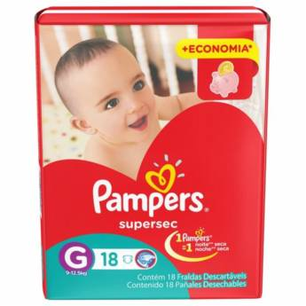 Comprar o produto de FRALDA PAMPERS SUPER SEC em Descartáveis em Foz do Iguaçu, PR por Solutudo