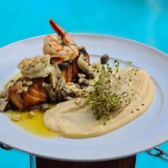 Comprar o produto de SAUMON GRILLÉ BELLE MAUNIERE em  Peixes & Crustaceos pela empresa Restaurante Quintal do Gui em Atibaia, SP por Solutudo