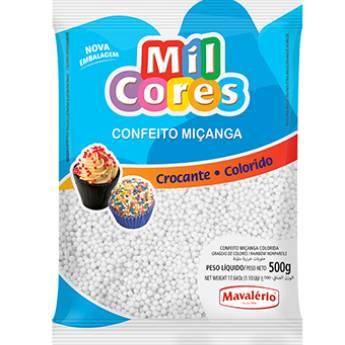 Comprar o produto de Confeito Miçanga Branco Mavalério em Alimentos e Bebidas pela empresa Eloy Festas em Jundiaí, SP por Solutudo