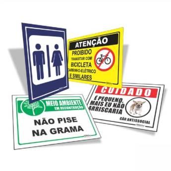 Comprar o produto de Placa de PVC 30x40cm - PVC 3mm em Comunicação Visual em Jundiaí, SP por Solutudo