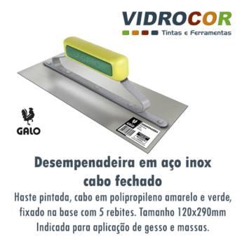 Comprar o produto de Desempenadeiras de aço inox marca Galo Loja de tintas Botucatu em Tintas em Botucatu, SP por Solutudo