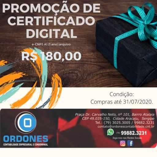 Comprar o produto de VENDA CERTIFICADO DIGITAL e-CNPJ A1 R$ 180,00 em Aplicações Comerciais pela empresa Ordones Contabilidade em Aracaju, SE por Solutudo