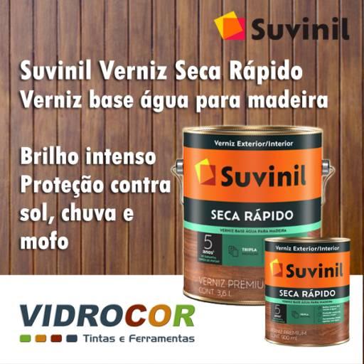 Comprar o produto de Verniz Suvinil base água Loja de tinta Botucatu em Tintas pela empresa Vidrocor Tintas - Loja 1 em Botucatu, SP por Solutudo