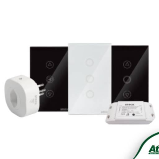 Comprar o produto de Interruptores Inteligentes Smarteck® em Interruptores e Tomadas Residenciais pela empresa Atilux Materiais Elétricos e Iluminação em Atibaia, SP por Solutudo