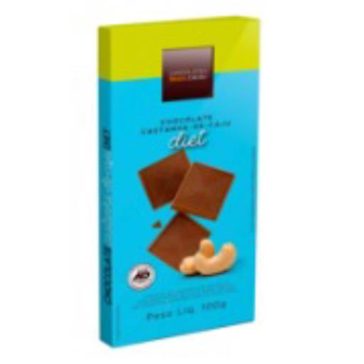 Comprar o produto de Tablete Diet Com Castanha-De-Caju 100g em Sobremesas Diet pela empresa Chocolates Brasil Cacau Botucatu em Botucatu, SP por Solutudo