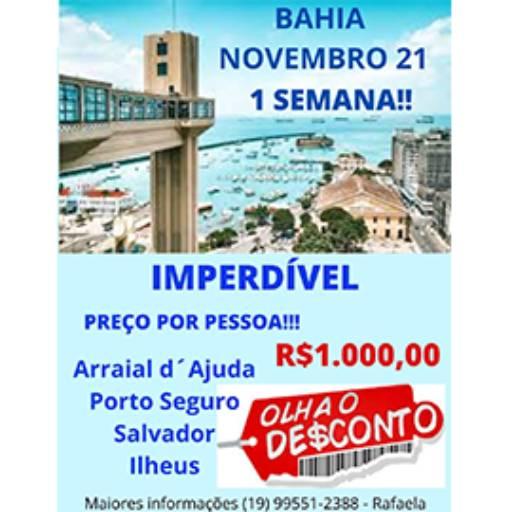 Promoção Bahia  em Americana, SP por Poltrona 1 Turismo - Nova Odessa