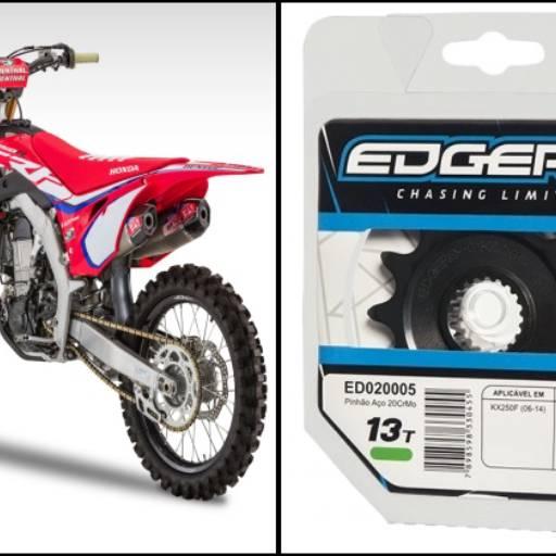 Comprar o produto de PINHÃO EDGERS HONDA CR125R (04-07) CRF250R (04-14) CRF250X (04-14) 13DENTES em Transmissão pela empresa Couto Motos Racing em Botucatu, SP por Solutudo