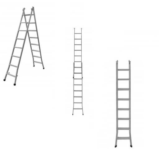 Escada de ferro extensiva 3 em 1 por Casa dos Parafusos - Saudades