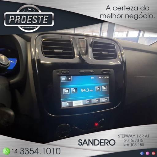 SANDERO STEPWAY 1.6R AUTO. em Botucatu, SP por Proeste MultiMarcas