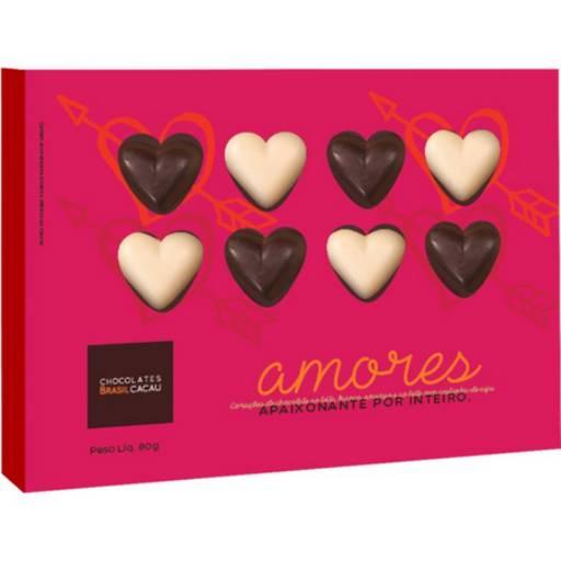 Comprar o produto de Caixa Amores 80g em Sobremesas pela empresa Chocolates Brasil Cacau Botucatu em Botucatu, SP por Solutudo