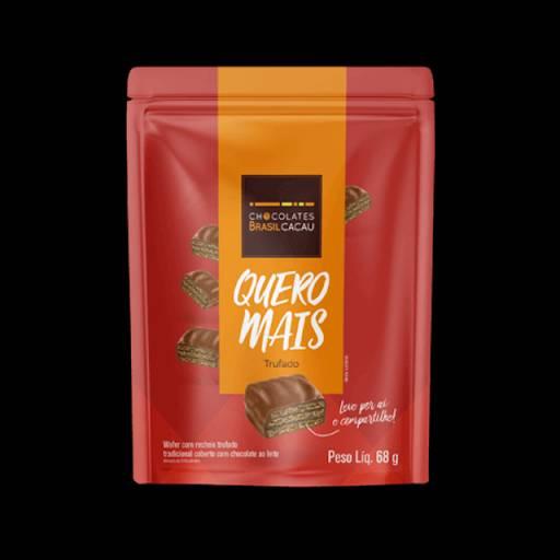 Comprar o produto de Quero Mais  Wafer Trufado 68g em Sobremesas pela empresa Chocolates Brasil Cacau Botucatu em Botucatu, SP por Solutudo