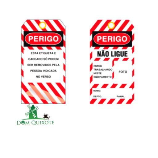 Cartão de bloqueio NÃO LIGUE com foto em Jundiaí, SP por Dom Quixote Equipamentos de Proteção Individual