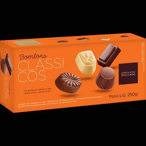 Comprar o produto de Bombons Clássicos 250g em Sobremesas pela empresa Chocolates Brasil Cacau Botucatu em Botucatu, SP por Solutudo