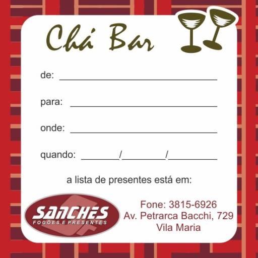 Comprar o produto de Lista de Chá Bar em Outros pela empresa Sanches Fogões em Botucatu, SP por Solutudo