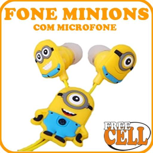 Fone de Ouvido Minions por Free Cell - Soluções em Celulares