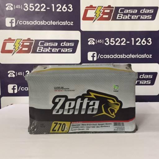 Comprar o produto de Bateria Zetta Z70D em Baterias Automotivas pela empresa Casa das Baterias em Foz do Iguaçu, PR por Solutudo
